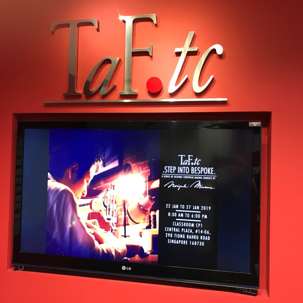 special shoemaking course and talk event at taf tc in singapore